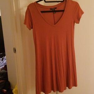 Rust colored tshirt dress